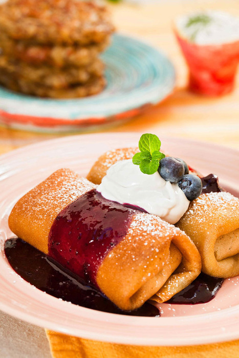 Vegan Chanukah Blueberry Blintzes | VegWorld Magazine | My Vegan recipes | Scoop.it