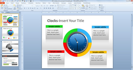 Free Clock Diagram for PowerPoint | Diagrams | Scoop.it