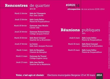 Dates des Rencontres de quartier et des Réunions publiques | Bergerac2014 | Scoop.it