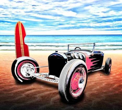 T Rat Rod at the Beach DownUnder with VivaChas | VivaChas!  Hot Rod Art | Scoop.it