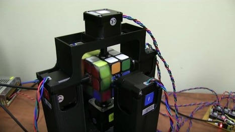 "Watch this robot solve a Rubik's Cube in about a second | L'impresa ""mobile"" 