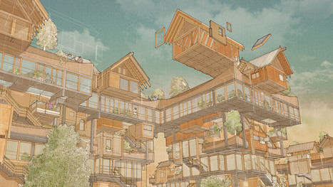 "Matt Lucraft designs ""MOCK-tudor-cum-metabolist"" building system 