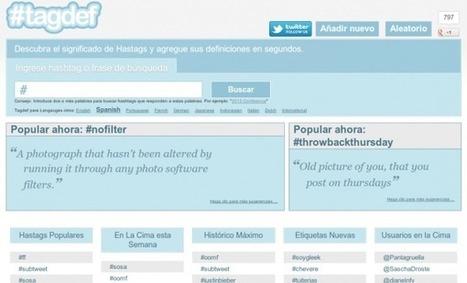 Tagdef: explicar los hashtags de Twitter | tics | Scoop.it