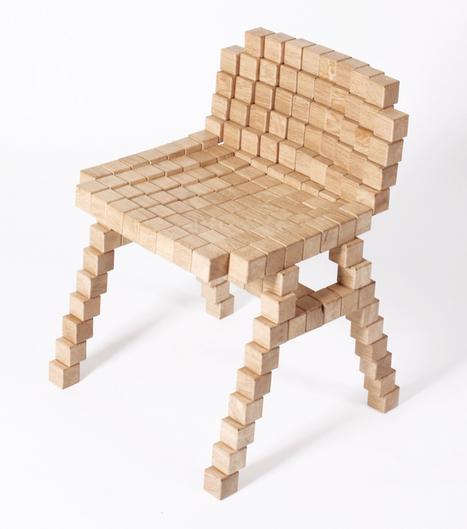 erik stehmann: blocks collection - wooden pixel furniture | weLOVEdesign | Scoop.it