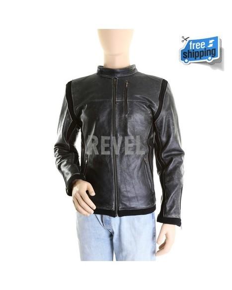 Mens Distressed Slimfit Leather Jacket | Leather Jacket | Scoop.it