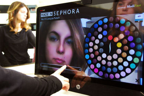 Sephora's Augmented Reality Mirror Adds Virtual Makeup To Customers' Faces - PSFK   Shopping expérience   Scoop.it