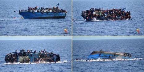 La marine italienne diffuse les images du chavirement d'un navire transportant plus de 500 migrants | Histoire de la Fin de la Croissance | Scoop.it