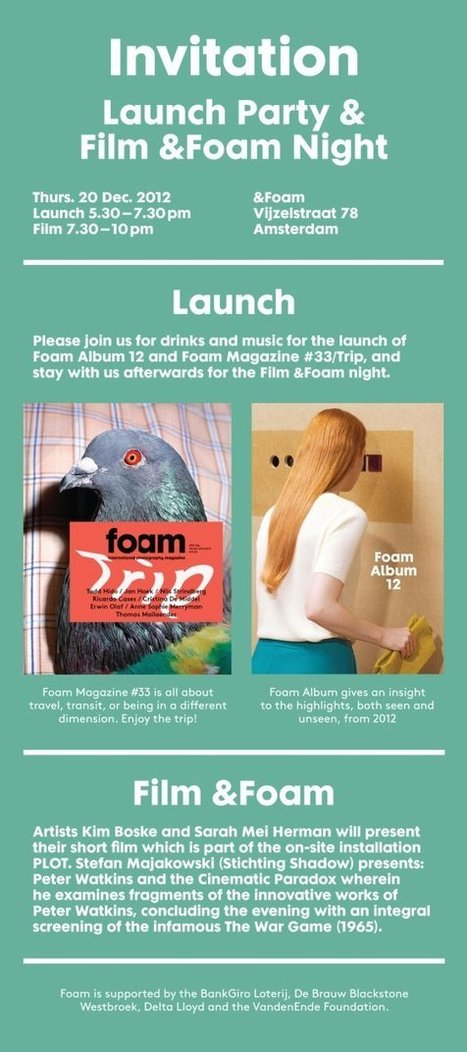 Invitation Foam Amsterdam Launch Party   Designing design thinking driven operations   Scoop.it