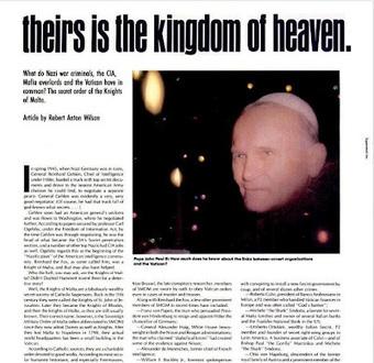 nwo-truthresearch: SMOM: di essi è il regno dei cieli | CDD VIDEO CONFERENZE INTERVISTE AUDIO E PROVE GRANDEDISCOVERY 1,  2 e 3 | Scoop.it