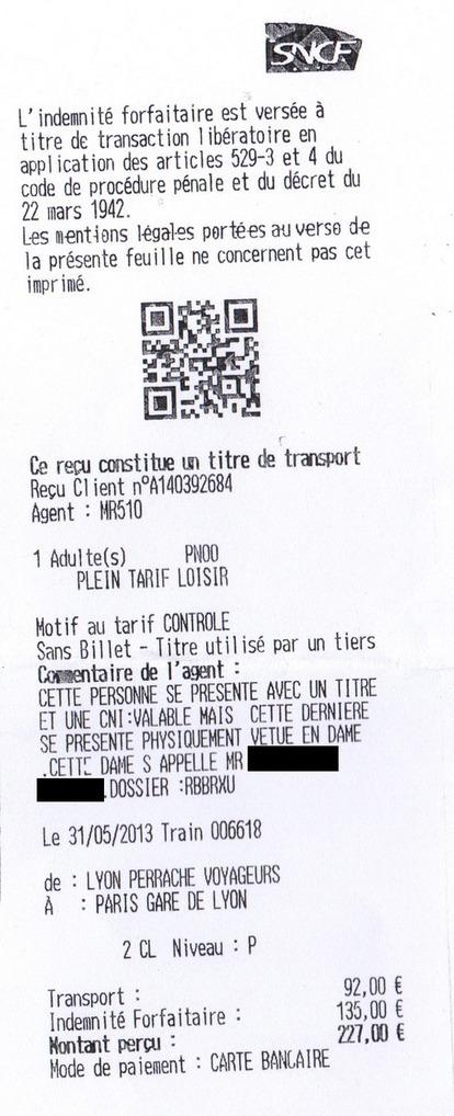 Le saviez-tu? Si tu es Trans, tu peux avoir une amende dans le TGV, rien que pour cette raison | Non, mais non, mais non, mais NON, BORDEL. | Scoop.it