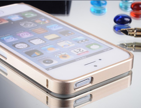 Luxury Ultra Thin 0.7mm Champagne Golden Metal Bumper Case for iPhone 5/ 5S | Latest phone accessories | Scoop.it