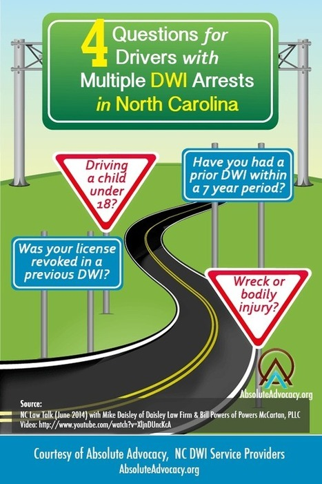 4 Questions For Anyone With Multiple NC DWI Arrests [Infographic] | Backlinks for your Blog | Scoop.it