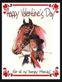 """""""Happy Valentine's Day to all of my horsey friends"""" 