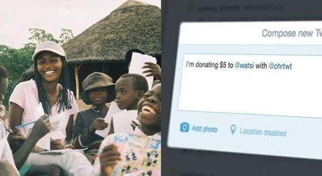 Simple Social Charity Campagins : tweet to donate   Social Media and Social Good   Scoop.it
