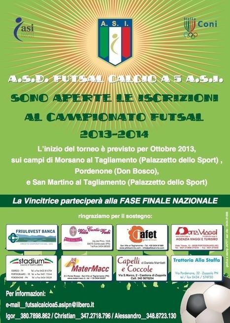 CAMPIONATO DI CALCIO A 5: TUTTE I CONTATTI E LE INFO PER ISCRIVERSI « il Blog   Futsal e calcio a cinque in provincia di Pordenone   Scoop.it