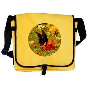 Black Swallowtail on Orange Messenger Bag> Butterfly Clothing & Accessories> Express Nature | Honest Opinions | Scoop.it
