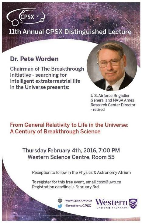 11th Annual CPSX Distinguished Lecture; February 4th in London, ON | Space Conference News | Scoop.it