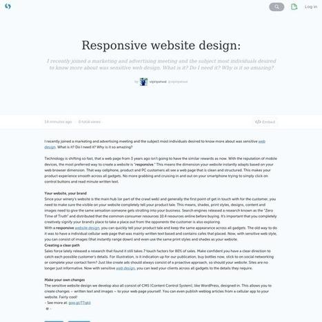 Responsive website design: · vipinpatwal · Storify   Soft Solution technologies   Scoop.it