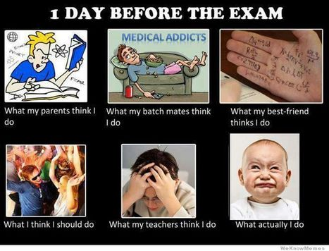 1 Day Before The Exam | What I really do | Scoop.it