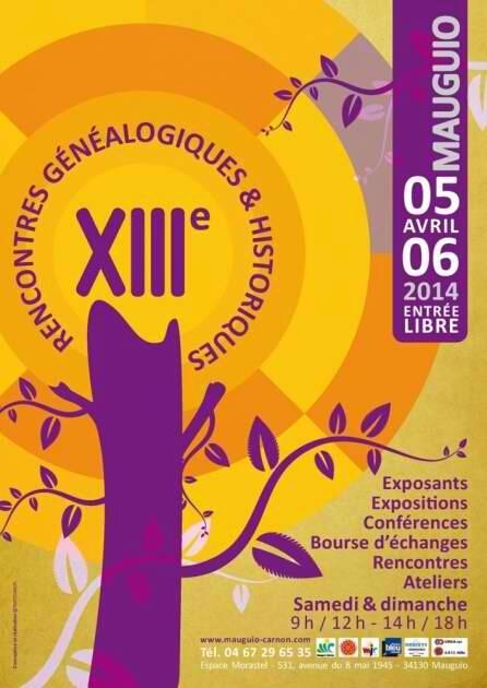 XIIIèmes Rencontres généalogiques et historiques de Mauguio : 5 et 6 avril 2014 | Nos Racines | Scoop.it