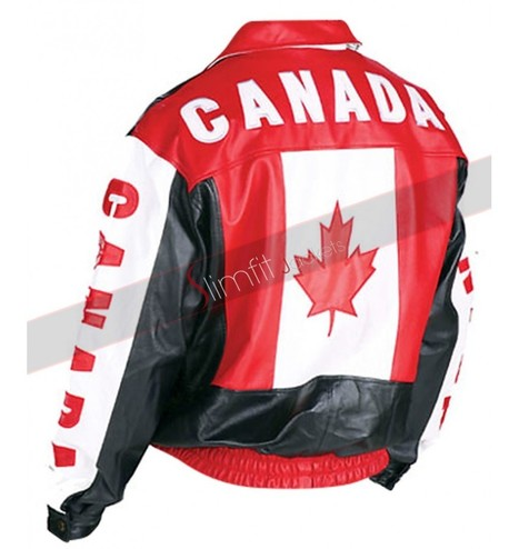 Canadian Flag Bomber Jacket | Motorcycle Leather Jackets For Men and Women | Scoop.it