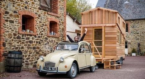 [Vidéo] Visite d'une tiny house en Normandie | Maison ossature bois écologique | Scoop.it