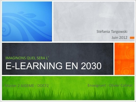 Imaginez l'e-learning en 2030… | PEDAGO-ANDRAGO-APPRENANCE | Scoop.it