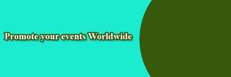 Promote your events Worldwideevents | All For You | Scoop.it