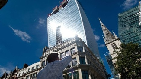 Reflected light from London skyscraper melts car   News about Commercial Real Estate   Scoop.it