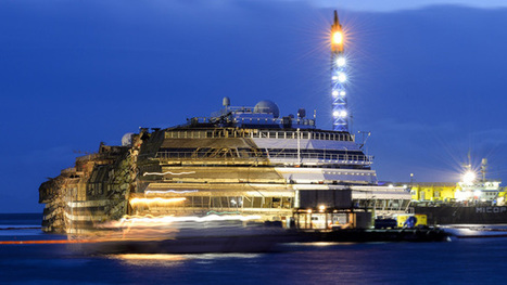 Raising Costa Concordia - timelapse video | Mobilities: The Shipping News | Scoop.it