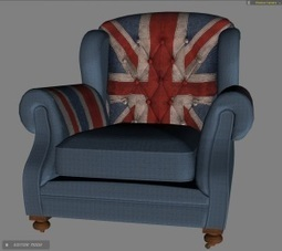 Union Jack armchair freebie for iClone | Machinimated | Scoop.it