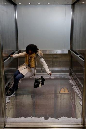 Bottomless Elevator 3D Illusion | Machinimania | Scoop.it