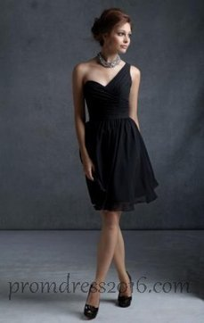 Online One Shoulder Black Bridesmaid Dresses Cheap [PD201600675] - $139.99 : Prom Dresses | Prom Dresses 2016 | girlsdresseshop | Scoop.it