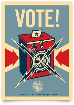 Get out the Vote! with Sincerely Ink & Shepard Fairey @obeygiant @sincerely | street art | Scoop.it
