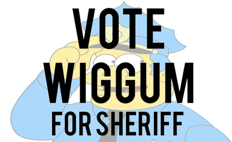 "College joke gets ""The Simpsons"" Chief Wiggum elected sheriff - Call The Cops 