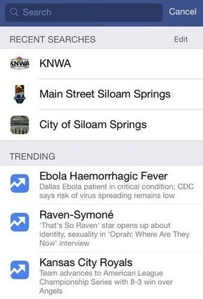 Facebook testing Trending on iOS app search page | MarketingHits | Scoop.it