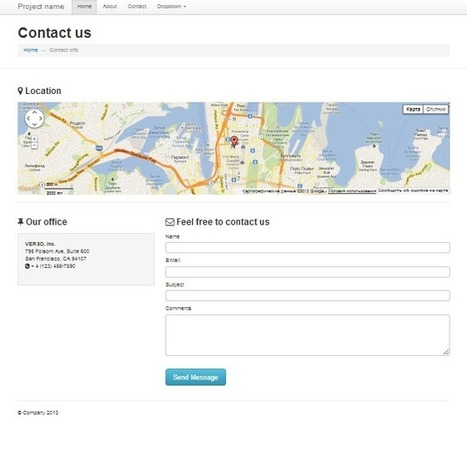Contact page Standart contact page bulid on... | Bootstraptor FREE KIT update | Scoop.it