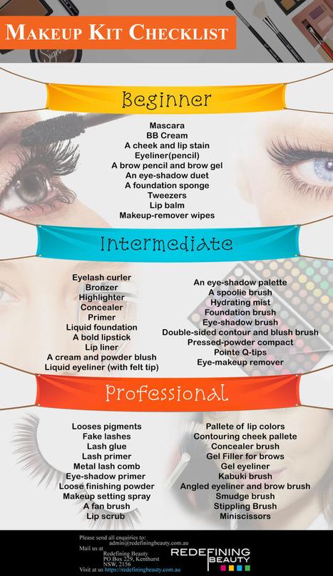 Makeup Kit Checklist | Redefining Beauty Australia | Scoop.it
