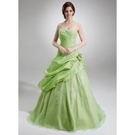 [US$ 241.99] Ball-Gown Sweetheart Floor-Length Taffeta Organza Quinceanera Dress With Ruffle Lace Flower(s) (021004727)   fantastic dresses   Scoop.it