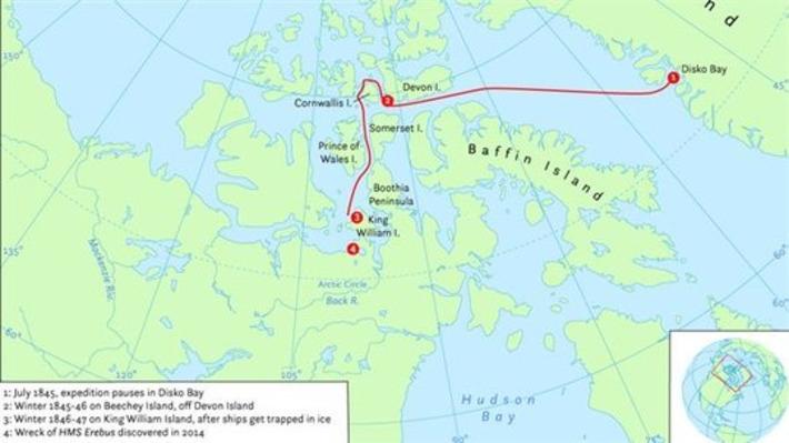 Possible découverte des vestiges de l'expédition Franklin dans l'Arctique canadien | RCI | Kiosque du monde : Amériques | Scoop.it