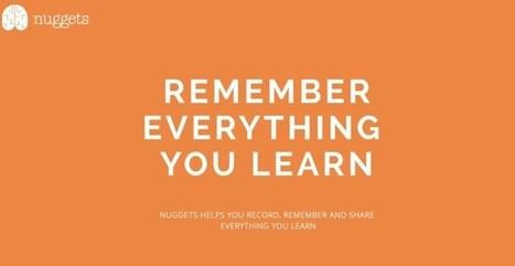 Nuggets. Souvenez-vous de ce que vous apprenez | Les nouvelles formes de la formation | Scoop.it