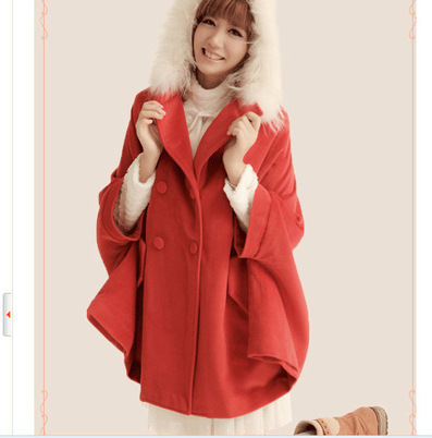 Cheap winter fur collar cloak cashmere woolen trench coat in women outcoat from women clothing on sightface.com | Cheap women Clothing Online at Sightface | Scoop.it