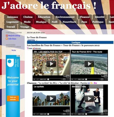 J'adore le français !: Le Tour de France | Facile à vivre | Scoop.it