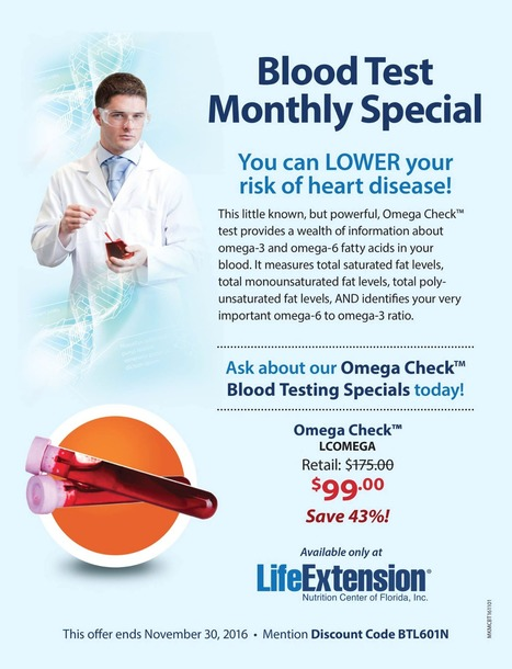 Omega Check Blood Test~ via Life Extension | Health & Life Extension | Scoop.it
