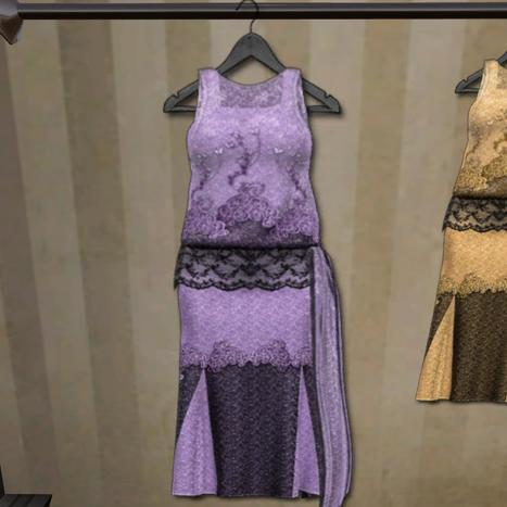 Butterfly Dress Lilac Wearable Demo Gift by Volstead | Teleport Hub | imvu and second life | Scoop.it