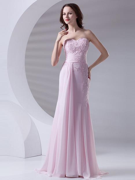 Modest A-line Floor-length Beading Chiffon Evening Dress : KissChic.com | Kisschic Fashion Dresses | Scoop.it
