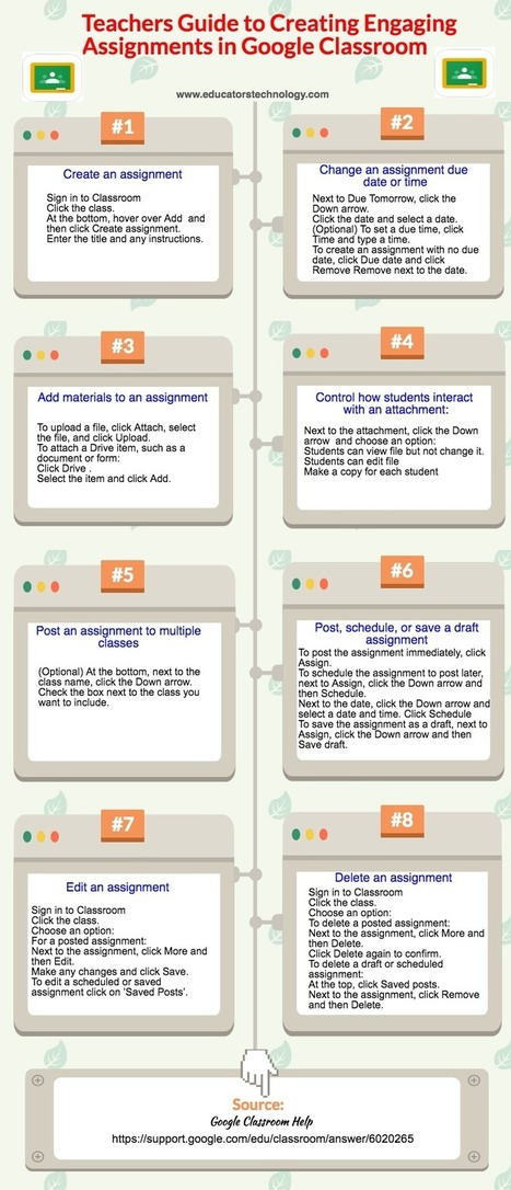 Teachers Guide to Creating Engaging Assignments on Google Classroom ~ Educational Technology and Mobile Learning | 21st century skills for the classroom | Scoop.it