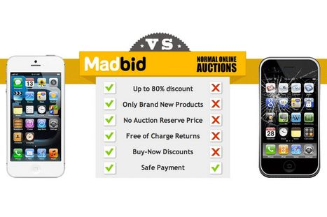 Online auction site can save consumers up to 95% on an iPad 4 or iPhone 5   MadBid   Scoop.it
