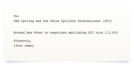 UCI, USA Cycling Asked to Meet at Sea Otter, Abolish Non-Sanctioned Race Restriction for Pros | Cyclosport | Scoop.it