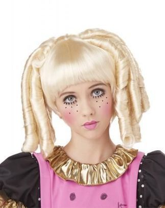Парик блондиночки с локонами и челкой   Карнавальный костюм для детей и взрослых!   Scoop.it